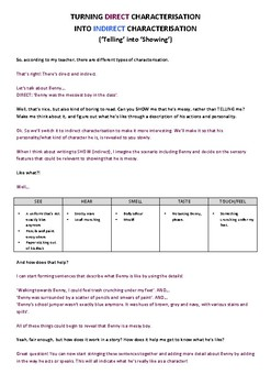 Indirect vs Direct Characterisation - Explanation, Example, a Practice Questions