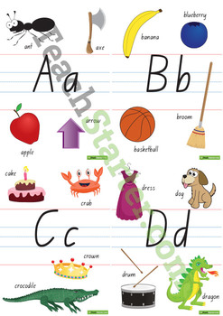 Individual Alphabet Charts with Pictures