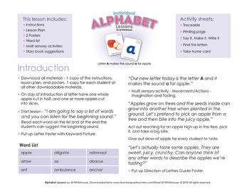 Alphabet Individual Lessons - Letter A makes the sound a