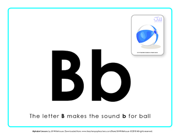 Alphabet Individual Lessons - Letter B makes the sound b
