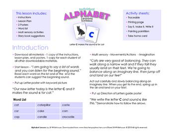 Alphabet Individual Lessons - Letter C makes the sound c