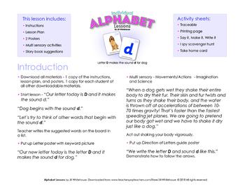 Alphabet Individual Lessons - Letter D makes the sound d