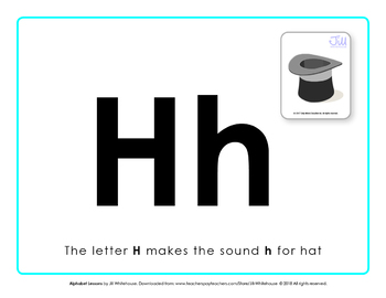 Alphabet Individual Lessons - Letter H makes the sound h