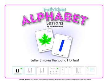 Alphabet Individual Lessons - Letter L makes the sound l