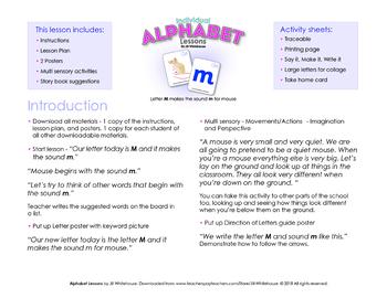 Alphabet Individual Lessons - Letter M makes the sound m