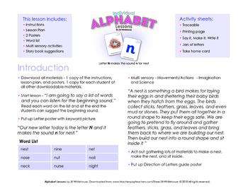 Alphabet Individual Lessons - Letter N makes the sound n