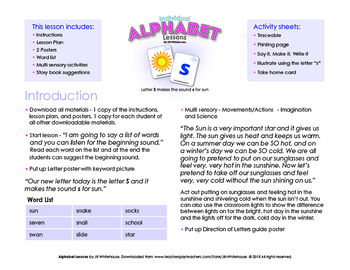 Alphabet Individual Lessons - Letter S makes the sound s