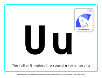 Alphabet Individual Lessons - Letter U makes the sound u