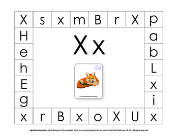 Alphabet Individual Lessons - Letter X makes the sound x