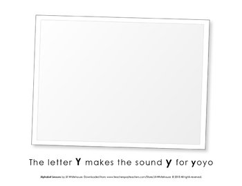 Alphabet Individual Lessons - Letter Y makes the sound y