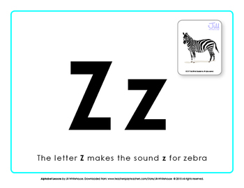 Alphabet Individual Lessons - Letter Z makes the sound z