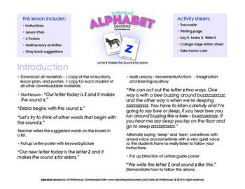 Alphabet Individual Lessons - Letter Z makes the sound z