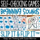 Individual Beginning Sounds Games   26 Self Checking Games