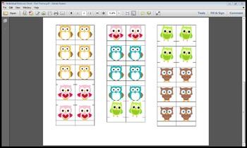 Individual Behavior Chart - Owl Theme