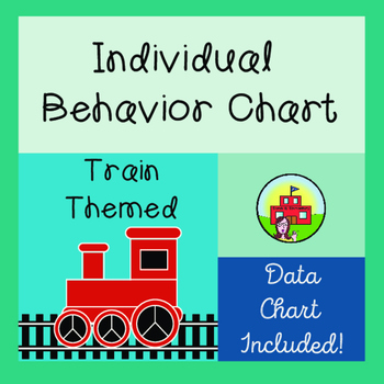 Individual Behavior Chart-Train Themed