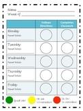 Individual Behavior Chart Weekly