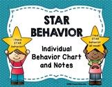 Individual Behavior Chart and Notes