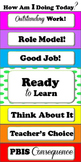 Individual Behavior Charts for Student Desks