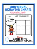 Individual Behavior Charts w/Characters + Google Drive Report Template
