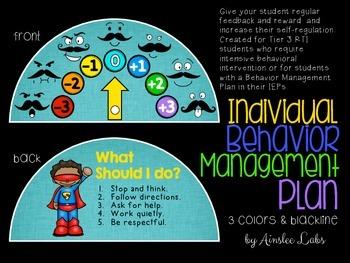 Individual Behavior Management Plan: Behavior Dial for Self-Regulation