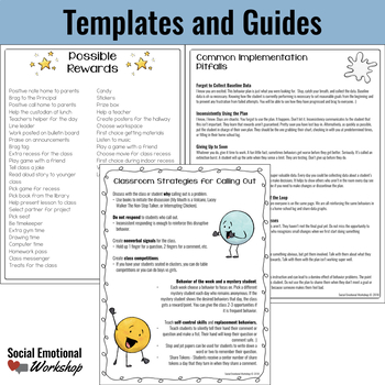 Individual Behavior Plan for Interrupting, Calling Out, & Blurting