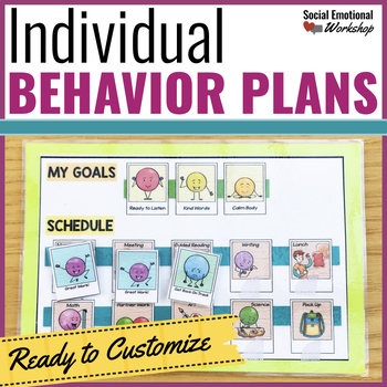 Individual Behavior Plan Pack: Editable Behavior Charts and Data Collection