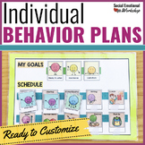 Individual Behavior Plan Pack: Editable Behavior Charts an