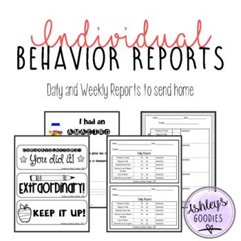 Individual Behavior Reports