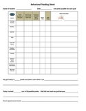 Individual Behavior Tracking Sheet
