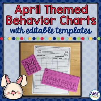 Individual Behavior and Reward Charts with Editable Templates April Themed