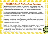 Individual Behaviour Contract