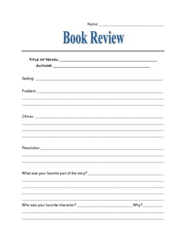 Individual Book Report Review
