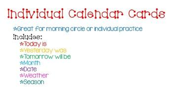 Individual Calendar Booklet