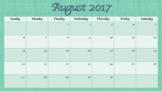 Individual Calendar Months