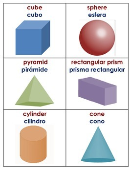 Individual Chart with 2D and 3D Shapes (English/Spanish)