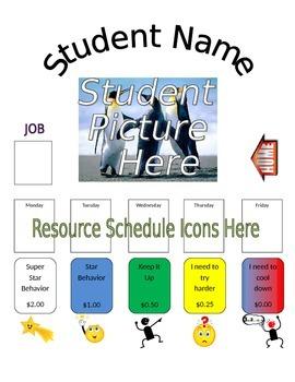 Individual Classroom Behavior Clip Chart
