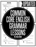 Individual Common Core English Grammar Lessons Grades 6 - 12