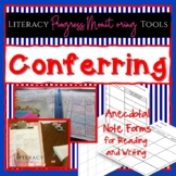 Conferring Forms for Reading and Writing Conferences