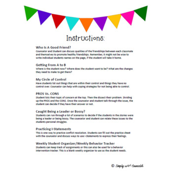 Individual Counseling Resources Organization | Think-Sheets
