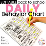 Editable Student Daily Behavior Charts & Data Recording Graph