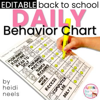 Editable Student Daily Behavior Charts & Data Recording Graph