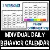 Individual Daily Behavior Calendar