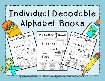 Printable Alphabet Books (Individual Decodable Books)