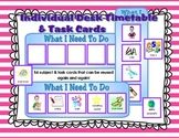 Individual Desk Timetables and 54+ Task Cards