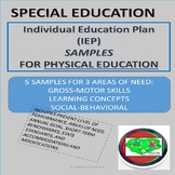 Individual Education Plan (IEP) Samples for Physical Education
