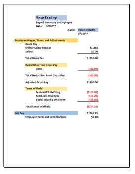 individual employee pay stub spreadsheet by academic learning coach