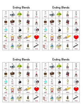Individual Ending Blends Chart