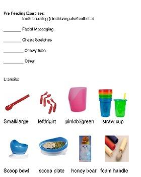 Individual Feeding Plan Cards