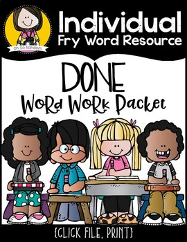 Individual Fry Word Resource FREEBIE {done}