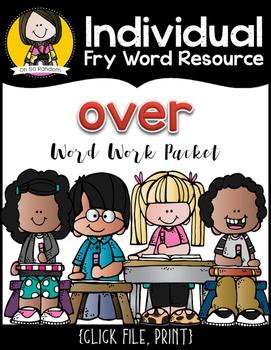Individual Fry Word Resource FREEBIE {over}